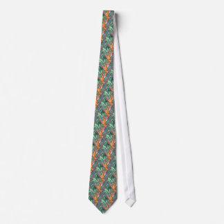 Enhanced Hawaiian Heliconia Flower Tie