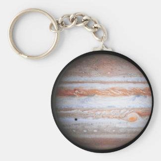 ENHANCED image of Jupiter Cassini flyby NASA Basic Round Button Keychain