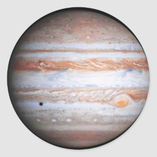 ENHANCED image of Jupiter Cassini flyby NASA Classic Round Sticker