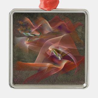Enhanced Ribbon Metal Ornament