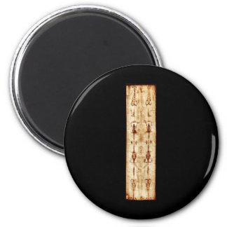 ENHANCED Shroud of Turin full image Jesus Christ 2 Inch Round Magnet
