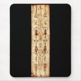 ENHANCED Shroud of Turin full image Jesus Christ Mouse Pad