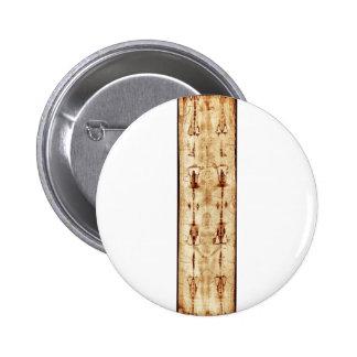 ENHANCED Shroud of Turin full image Jesus Christ Pinback Button