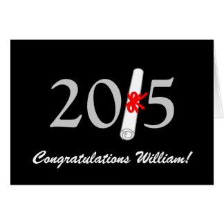 Enhorabuena 2015, personalizable de la graduación tarjeta de felicitación