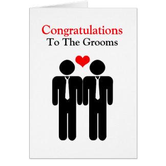 Enhorabuena a casarse de los novios tarjeta de felicitación