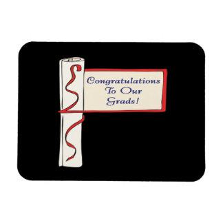 Enhorabuena a nuestros graduados iman de vinilo