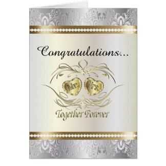 Enhorabuena a Sr. y a la señora invitación de boda Tarjeta De Felicitación