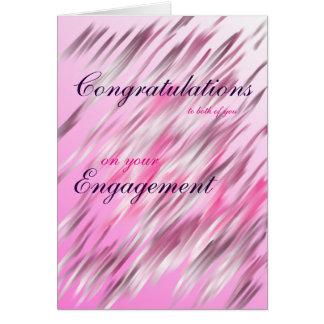 Enhorabuena a usted ambas en su compromiso tarjeta de felicitación