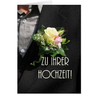 Enhorabuena alemana del boda tarjeta pequeña