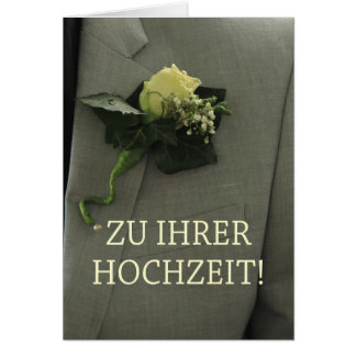 Enhorabuena alemana del boda tarjeta de felicitación
