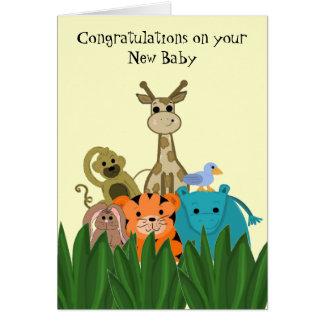 Enhorabuena animal del bebé del parque zoológico tarjeta pequeña