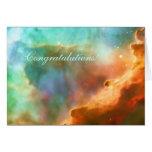 Enhorabuena, área agrandada de la nebulosa de tarjeta de felicitación