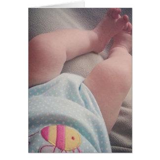 Enhorabuena - bebé tarjeta de felicitación