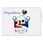 ¡Enhorabuena! - Casa/cita del arco iris del matrim Felicitación