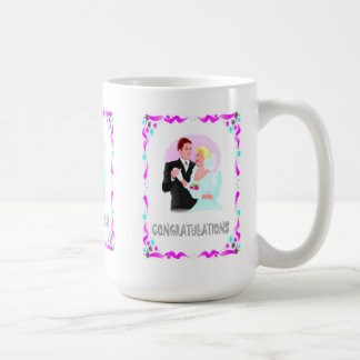 Enhorabuena, casando pares taza básica blanca