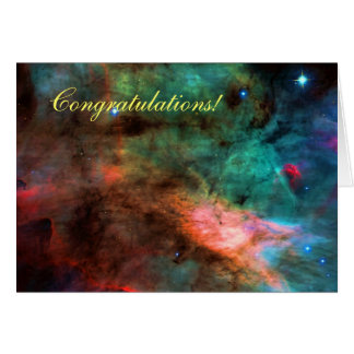 Enhorabuena - centro de la nebulosa del cisne tarjeta de felicitación