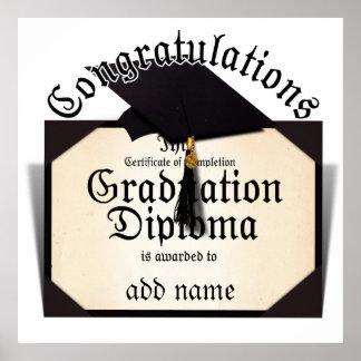 ¡Enhorabuena! Certificado de diploma de la Póster