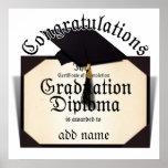¡Enhorabuena! Certificado de diploma de la realiza Poster
