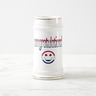 ¡Enhorabuena! Colores de la bandera de América Jarra De Cerveza