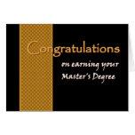 Enhorabuena CONOCIDA DE ENCARGO - el masters Tarjeton