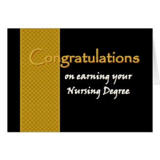 Enhorabuena CONOCIDA DE ENCARGO - grado de oficio Tarjeta De Felicitación