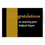 Enhorabuena CONOCIDA DE ENCARGO - grado médico Felicitación
