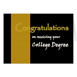 Enhorabuena CONOCIDA DE ENCARGO - graduado de la Tarjeta De Felicitación