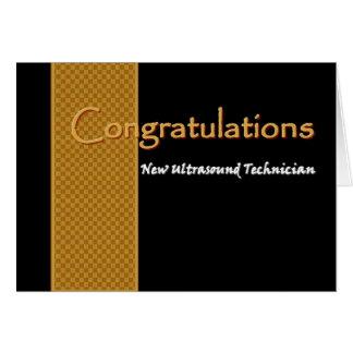 Enhorabuena CONOCIDA DE ENCARGO - ultrasonido Felicitacion