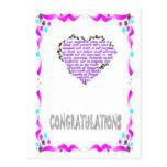 Enhorabuena - corazón 2 postal