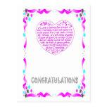 Enhorabuena - corazón postal