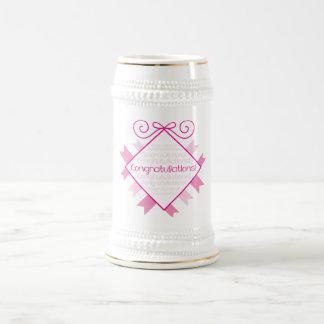 ¡Enhorabuena! cuadrado rosado Jarra De Cerveza