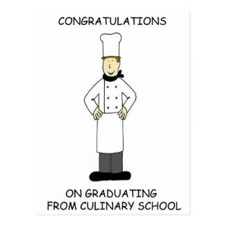 Enhorabuena culinaria de la graduación de la postales