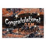 Enhorabuena D.V.M. Graduate Orange y negro Felicitacion