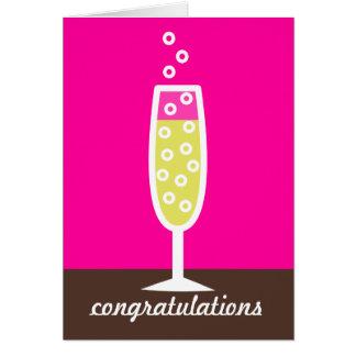 Enhorabuena de Champán Tarjeta De Felicitación