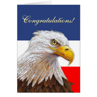 Enhorabuena de Eagle Tarjeta De Felicitación