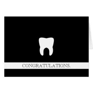Enhorabuena de encargo profesional dental molar tarjeta pequeña