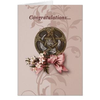 Enhorabuena de Handfasting Tarjeta De Felicitación