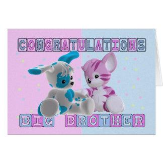 Enhorabuena de hermano mayor tarjeta de felicitación