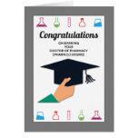 Enhorabuena de la graduación de la escuela de la tarjeta de felicitación