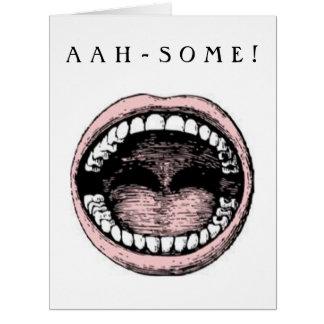 enhorabuena de la graduación de la escuela dental tarjeta de felicitación grande