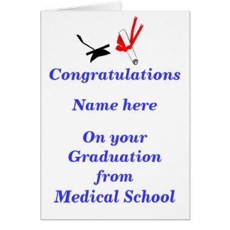 Enhorabuena de la graduación de la Facultad de Tarjeta De Felicitación