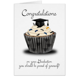 Enhorabuena de la graduación de la magdalena tarjeta de felicitación