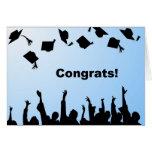 Enhorabuena de la graduación felicitación