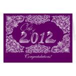 Enhorabuena de la graduación tarjeta de felicitación