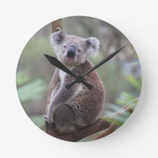 Enhorabuena de la selva del safari del oso de reloj redondo mediano
