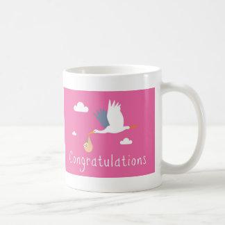 Enhorabuena de la taza del nacimiento