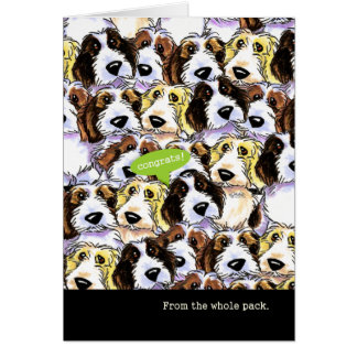Enhorabuena de perros divertidos del grupo PBGV Tarjeton