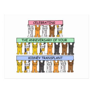 Enhorabuena del aniversario del trasplante del tarjeta postal