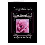 Enhorabuena del boda de la NIETA - color de rosa r Tarjetas