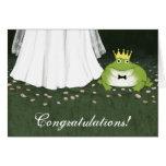 Enhorabuena del boda del príncipe cuento de hadas tarjeta de felicitación